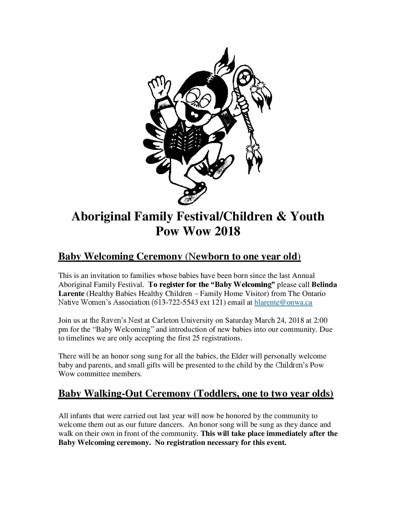 Odawa native friendship centre events poster biocorpaavc
